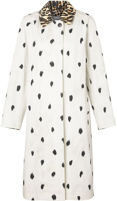 Burberry Animal Print Cotton Car Coat