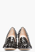 Valentino Black Patent Leather Studded Pumps