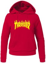 THE THRASHER Printed Hoodies THE THRASHER Printed For Ladies Womens Hoodies Sweatshirts Pullover Tops