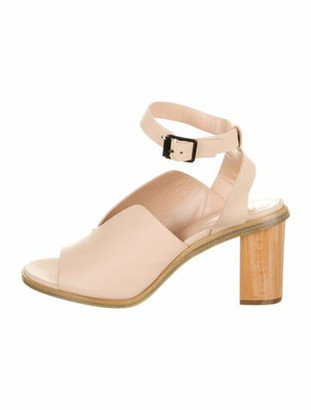 Zero Maria Cornejo Leather Cutout Accent Sandals Pink