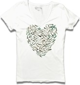 Converse Women's Feathers V-Neck Tee