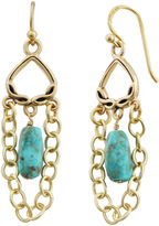 Barse FINE JEWELRY Art Smith by Turquoise & Chain Drop Earrings