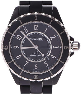 Chanel Black Stainless Steel J12 H3131 Women's Wristwatch 42MM