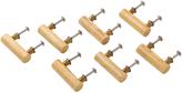 Rejuvenation Set of 7 Wood and Brass Dowel Pulls