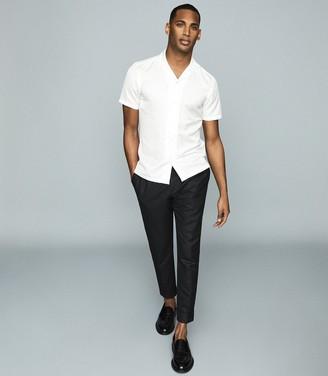 Reiss LANG Cuban collar shirt White