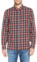 Vans 'Canehill' Trim Fit Geo Plaid Woven Shirt