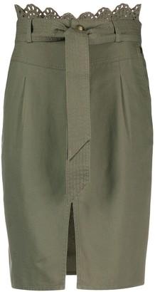 Twin-Set Tie-Waist Pencil Skirt