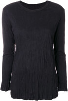 Yohji Yamamoto crumpled sweatshirt