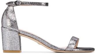 Stuart Weitzman Simple 60 metallic sandals