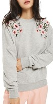 Topshop Petite Women's Embroidered Sweatshirt