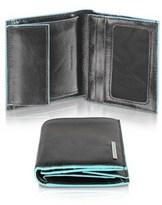Piquadro Men's Black Leather Wallet.