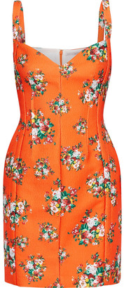 Emilia Wickstead Fyfe Floral-print Cloque Mini Dress