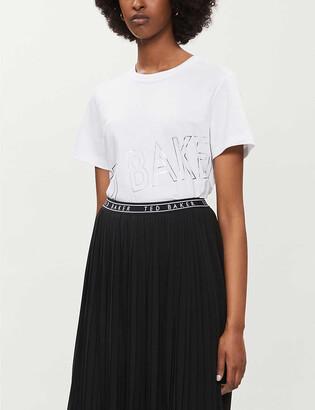 Ted Baker Metallic logo-print cotton-jersey T-shirt