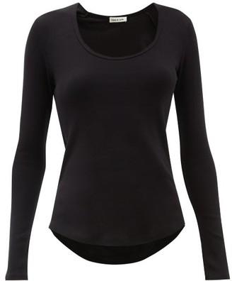 Frances De Lourdes - Charly Organic-cotton T-shirt - Womens - Black