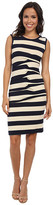 Nicole Miller Stripe Jersey Tank Dress w/ Cutout