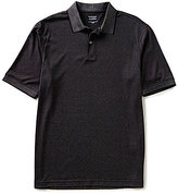 Roundtree & Yorke TravelSmart Big & Tall Short-Sleeve Dotted Jacquard Polo