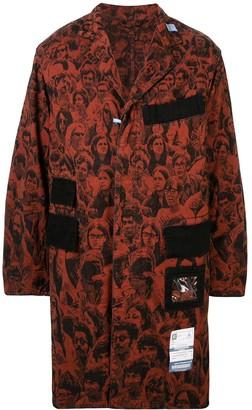 Maison Mihara Yasuhiro All-Over Print Coat