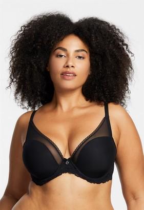 Mystique Montelle Plunge Bra in Black Size 36