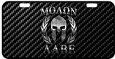 """Molon Labe License Plate Molon Labe Metal License Plate Carbon cellulosic plate number Novelty Truck Car Tag gift Decor Size 11.8"""" X 6.1"""