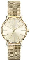 Armani Exchange Gold Mesh Analog Bracelet Watch