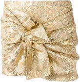 No.21 tie-front miniskirt - women - Silk/Polyester/Cupro - 36