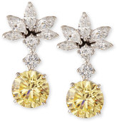 FANTASIA Canary Yellow CZ Drop Earrings