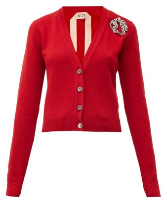 No.21 No. 21 - Crystal-cat Cashmere Cardigan - Red