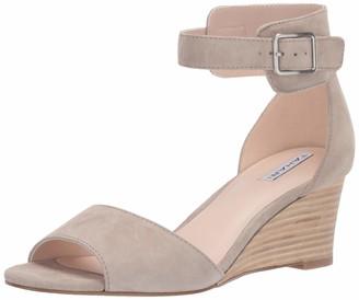 Tahari Womens Pacen Wedge Sandal Black Leather 5.5 M
