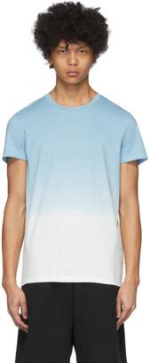 Balmain Blue and White Gradient T-Shirt