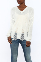 Dreamers Distressed V-Neck Sweater