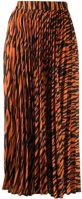 Andamane Becky zebra print skirt