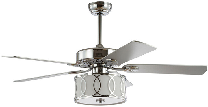 Thumbnail for your product : Jonathan Y Designs Circe 52In 3-Light Drum Shade Led Ceiling Fan With Remote