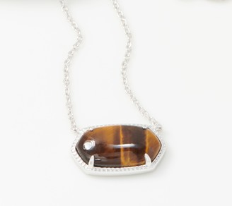 Opaque Gemstone Necklace Sterling Silver