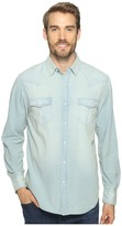 True Grit Long Sleeve Western Shirt w/ Hand Treated Wash