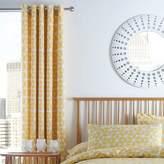 Kaleidoscope Geo Daisy Eyelet Lined Curtains