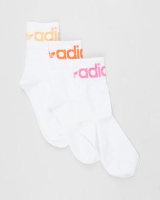 adidas White Crew Socks - Fold Cuff Crew Socks - Size S at The Iconic