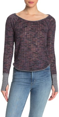 Free People Space Out Long Sleeve Knit Top