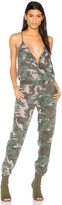 Pam & Gela Camo Strappy Jumpsuit