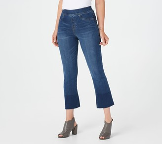 Spanx Medium Wash Cropped Flare Jeans