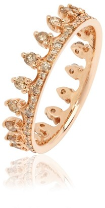 Annoushka Brown Diamond Rose Gold Crown Ring