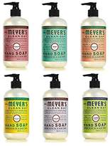 Mrs. Meyer's Mrs. Meyers Clean Day Liquid Hand Soap 6 Scent Variety Pack, 12.5 oz Each