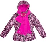 Pink Platinum Pink Cheetah Puffer Jacket Set - Toddler & Girls