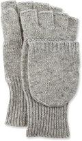 Neiman Marcus Convertible Fingerless Mitten-Style Gloves, Gray
