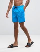 Asos Swim Shorts In Bright Blue Mid Length