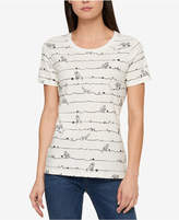 Tommy Hilfiger Cotton Cat-Print T-Shirt, Created for Macy's