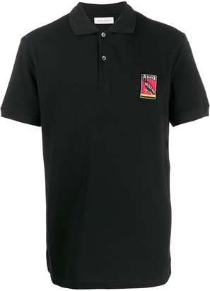 Alexander McQueen Embroidered Motif Polo Shirt