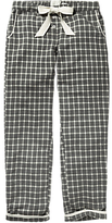 Fat Face Grid Check Pyjama Bottoms, Charcoal