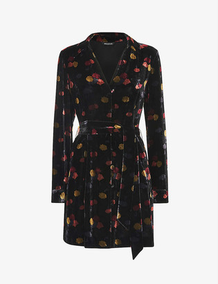 Whistles Flowerpod velvet mini dress