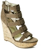 GUESS Factory Women's Tyfany Gladiator Wedge Sandals