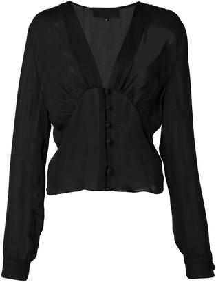Nili Lotan sheer chiffon blouse